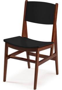 Cadeira Dumon Cor Cacau Com Preto - 30781 Sun House