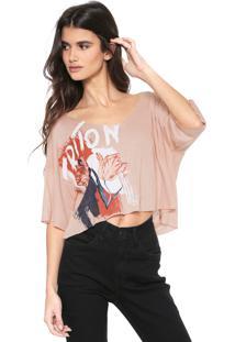 Camiseta Triton Floral Rosa