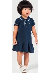 Vestido Bebê Menina Gola Polo - Tal Pai Tal Filha Hering Kids
