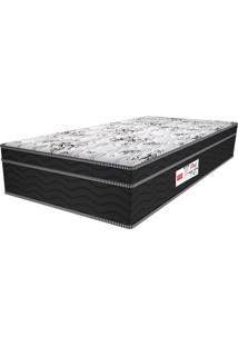 Colchão Solteiro Pillow Top Floral Shade - Pelmex - Branco / Black
