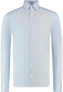 Camisa Vr Punho Reversivel Ml Azul