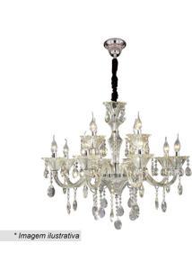 Lustre Maria Thereza- Cristal & Inox- 26X50X70Cmhevvy
