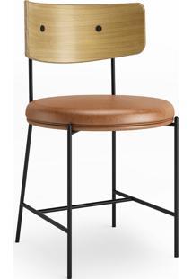 Cadeira Arco Assento Estofado Base Aço Carbono Coleção Bari Tremarin Design By Ambos Studio