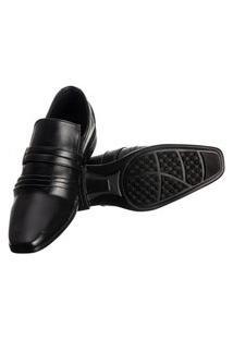 Sapato Social Masculino Elástico Metal Conforto Elegante Preto 44 Preto
