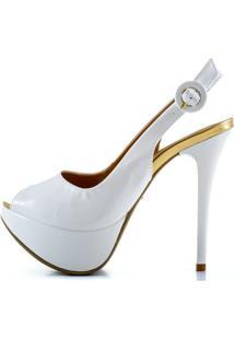 Peep Toe Le Bianco - Feminino-Branco