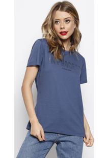 """Camiseta """"In Process"""" - Azul & Preta - Forumforum"""