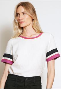 Camiseta Forum Listras Branca - Kanui