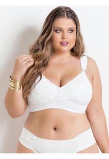 Sutiã Plus Size Sem Bojo Branco