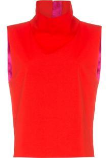Halpern Blusa Gola Alta - Vermelho