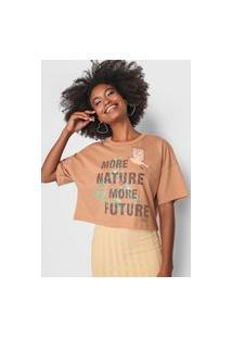 Camiseta Colcci Nature Bege