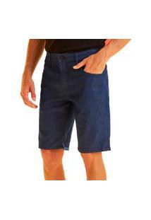 Bermuda Jeans Forum Paul Slim Azul Masculina
