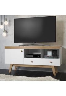 Rack Para Tv 1 Gaveta E 1 Porta Trend 26704 Hanover/Branco - Artesano