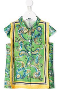 Philosophy Di Lorenzo Serafini Kids Vestido Com Estampa Paisley - Verde