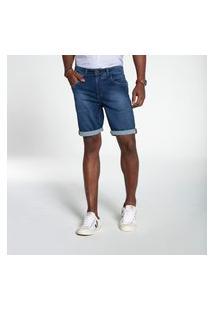 Bermuda Docthos Jeans T-400 Escura Middle Bermuda Docthos Jeans T-400 Escura Middle 165 Jeans Escuro 50