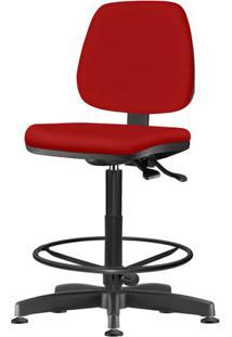 Cadeira Job Assento Courino Vermelho Base Caixa Metalica Preta - 54539 Sun House