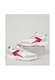 Tênis Feminino Sneaker Chunky Com Recortes Branco