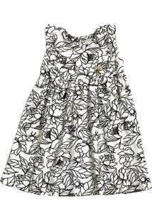 Vestido Bebê Estampa Floral Marisa