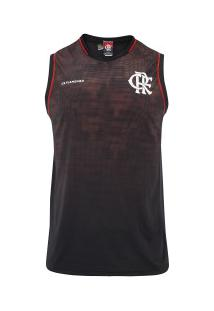 Camiseta Regata Do Flamengo 19 Alone - Masculina - Preto/Vinho