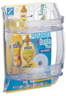 Porta Shampoo Com Prateleira Dupla Plus 31X22X10,5Cm Arthi