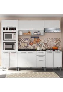 Cozinha Compacta 9 Portas Isadora 0424T Branco - Genialflex