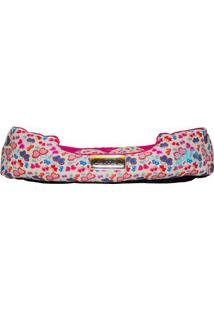 Cama Retangular Borboletas- Pink & Branca- 17X70X60C4 Patas