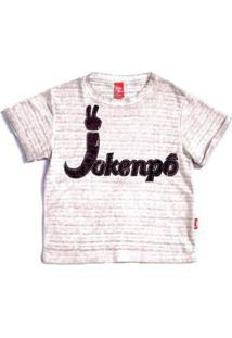 Blusa Jokenpô Infantil Jkp Cetim - Feminino-Branco