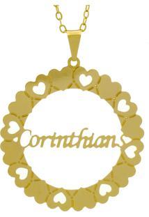 Gargantilha Horus Import Pingente Manuscrito Corinthians Banho Ouro Amarelo - Tricae