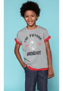 Conjunto Infantil Menino Com Bermuda Em Malha Jeans Hering Kids