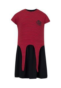 Vestido Do Flamengo Pop 19 - Infantil - Vermelho/Preto