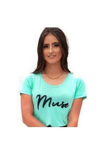 Camiseta Miss Glamour Store Muse Verde