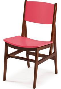 Cadeira Dumon Cor Cacau Com Rosa - 30789 - Sun House