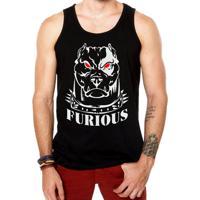 0660d0eaf33c9 Camiseta Regata Criativa Urbana Fitness Musculação Academia Furious -  Masculino-Preto