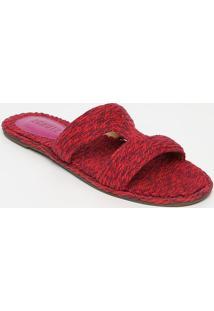 Sandália Rasteira Mescla - Rosa Escuro Roxaschutz
