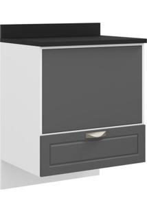Balcão Multimóveis Nevada 70Cm Para Cooktop, Forno E Microondas Para Embutir Suspenso Grafite