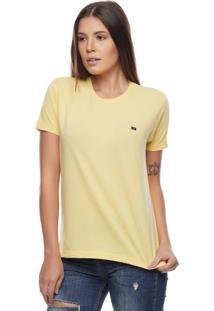 Camiseta Bossa Brasil Logo B Amarela
