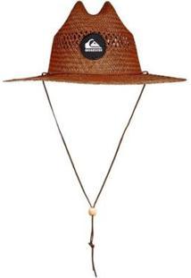 Chapéu De Palha Quiksilver Pierside Slimbot - Masculino-Marrom