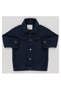 Jaqueta Infantil Em Sarja Azul Marinho