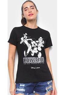 Camiseta Colcci Mickey And Friends Feminina - Feminino-Preto