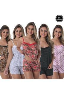 Kit Baby Doll Thaís Com 5 Liganete Click Mais Bonita Feminino - Feminino-Preto