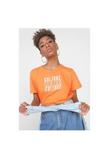 Camiseta Colcci Culture Laranja