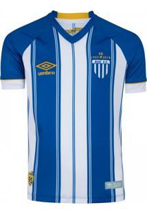 Camisa Umbro Avaí Oficial 1 2018 Fan Masculina Azul