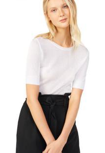 Amaro Feminino Top Tricot Elegance, Branco