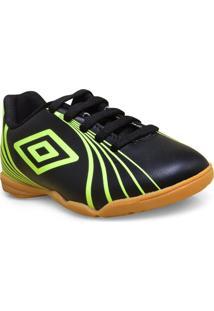 Tenis Masc Infantil Umbro Of82037 166 Footwear Sprint Jr Preto Limao faf35b2b193a8