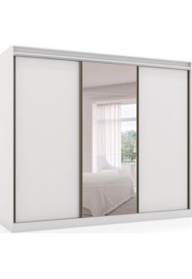 Guarda-Roupa Casal Com Espelho Atena 3 Pt 6 Gv Branco