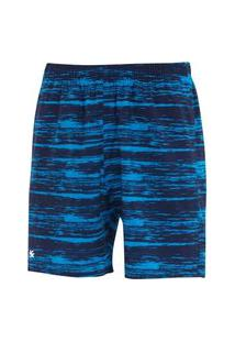 Bermuda Estampada Com Elastano Velox Azul/Marinho Bermuda Estampada Com Elastano Velox Azul/Marinho P