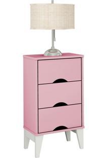 Mesa De Cabeceira Twister 3 Gv Quartzo Rosa E Branca