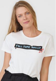 Camiseta Cantão Full Time Artist Off-White - Kanui