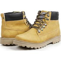 799a417d8 Bota Coturno Casual Masculino Top Franca Shoes - Masculino-Mostarda
