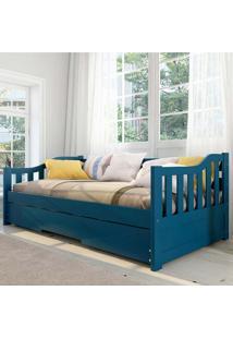 Cama Infantil Bicama American Em Madeira Maciça 1003 Azul - Arbol Movelaria