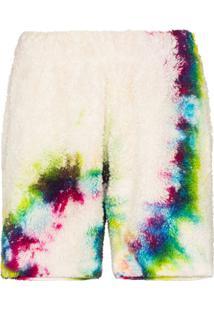 The Elder Statesman Sherpa Tie-Dye Shorts - Branco